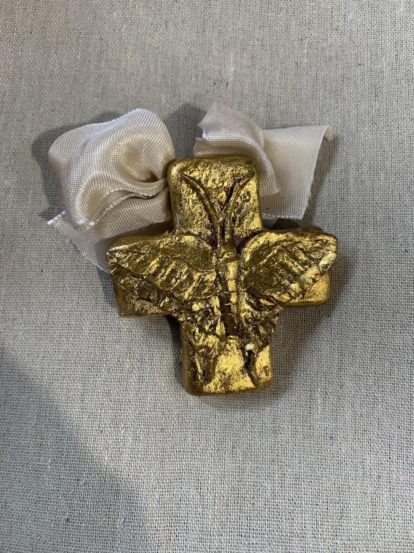 India Stewart Resin Cross Butterfly