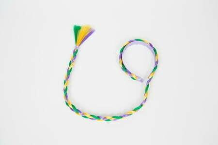 Mardi Gras Headband Braid