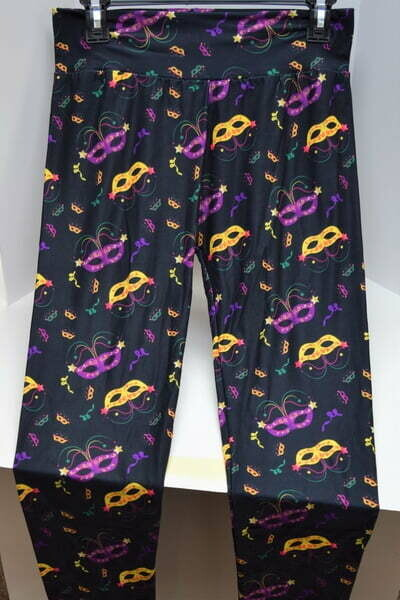 The Mardi Gras Collection Mask Leggings