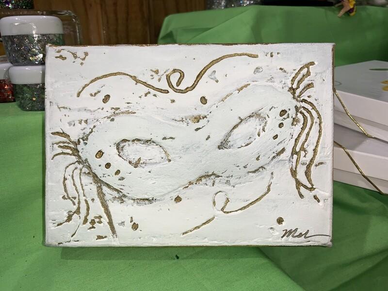 7x5 MG Mask Gold Art