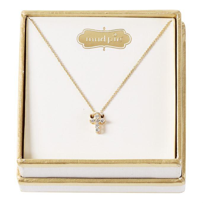 Pave Cross Necklace