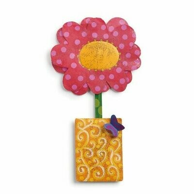 Pink Flower Pot Door Hanger