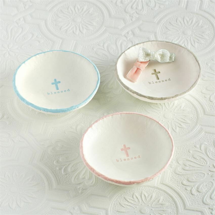 Blessed Trinket Dish - Blue