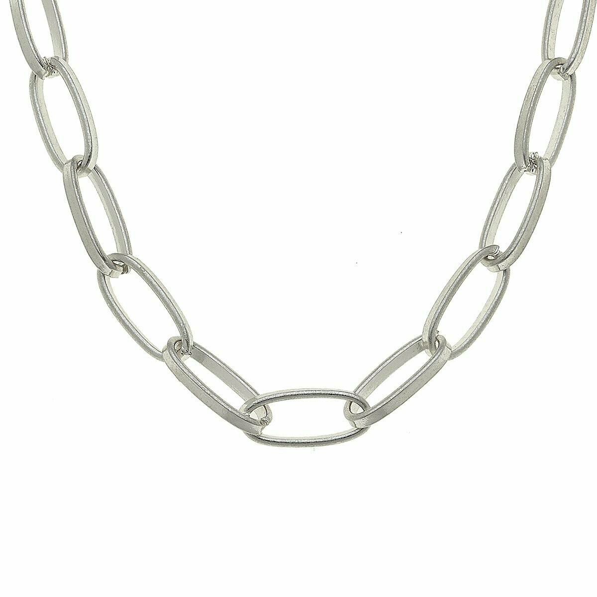 Jolie Chain Necklace In Worn Silver