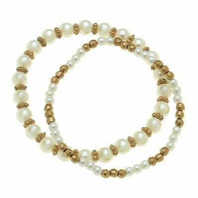 Eloise Bracelets In Ivory Pearl (Set Of 2)