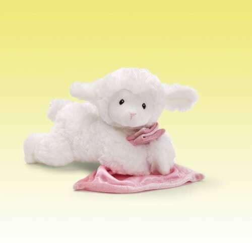 "GUND Lena Lamb with Pink Blanket Stuffed Animal Sound Plush, 6"""