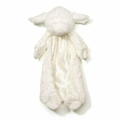 Winky Lamb Huggybuddy Stuffed Animal Plush Blanket, White