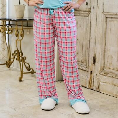Tropical Punch Plaid Sleep Pants L