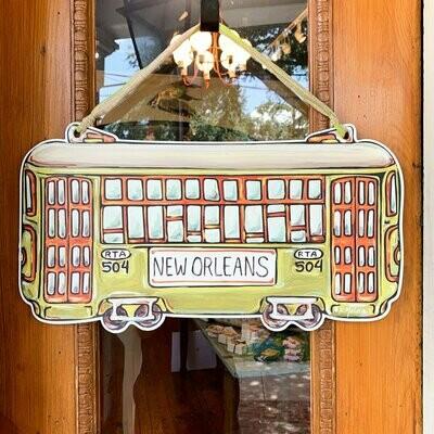 Home Malone Green Streetcar Door Hanger