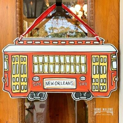 Home Malone Red Streetcar Door Hanger