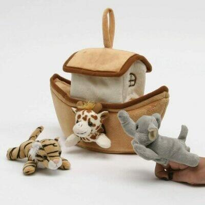 Plush Noah's Ark Finger Puppet Set
