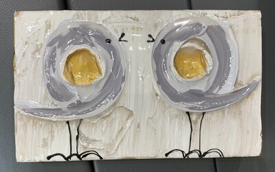 Susan Hood 6x9 Grey Birds Facing Art