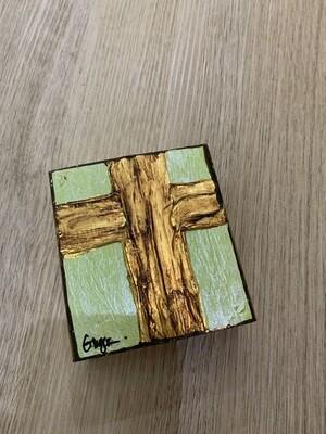 Ginger Leigh Lustre Cross Lime Small