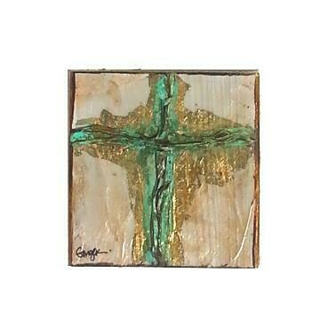Ginger Leigh Medium Square Cross Art