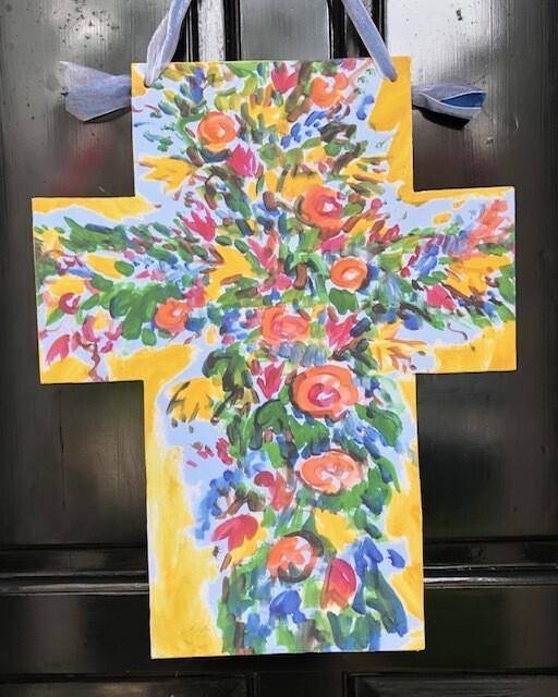 Tim Trapolin Trinity Easter Cross Doorhanger