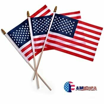 Three Pack Mini American Flags