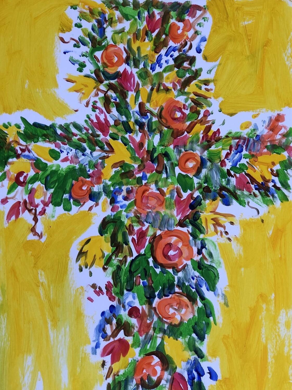 5x7 Tim Trapolin Trinity Easter Cross Print