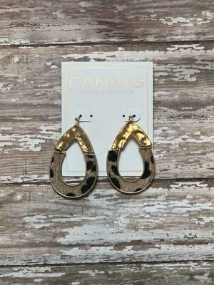 Teardrop Animal Print Earrings
