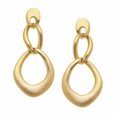 Abstract Gold Chain Link Earrings