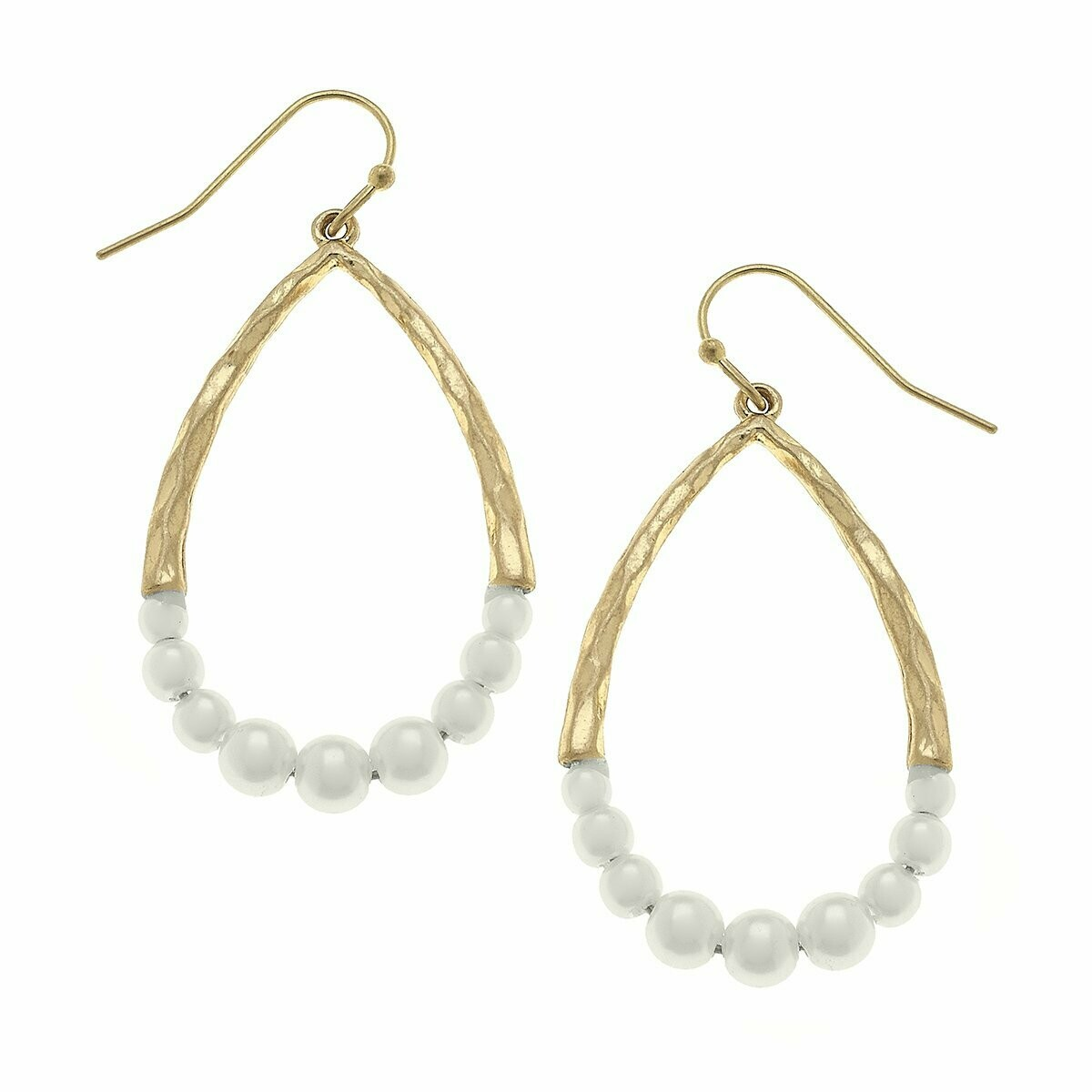Teardrop Earrings in Ivory Pearl