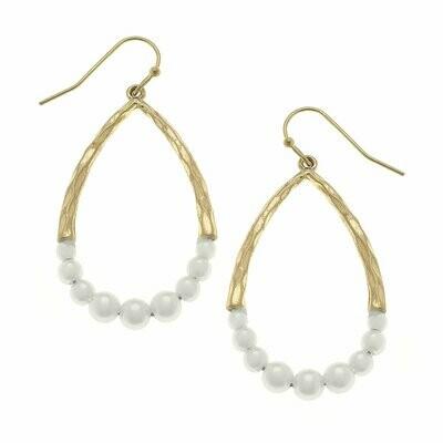 Teardrop Earrings in Ivory Pearl