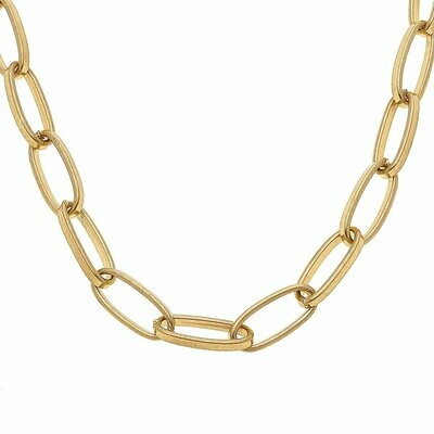 Chain Necklace in Worn Gold