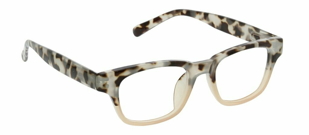Peepers Blue Light Blocker Layover Focus Lens Grey Tortoise 1.75