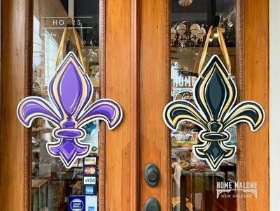Double Sided FDL Door Hanger: LSU/Saints