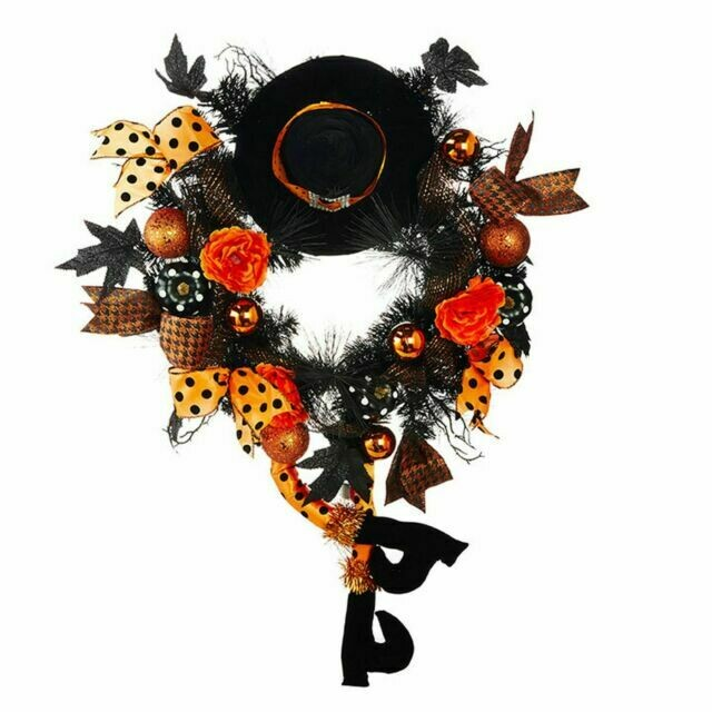 """Halloween Party 33"""" Witch Wreath"""