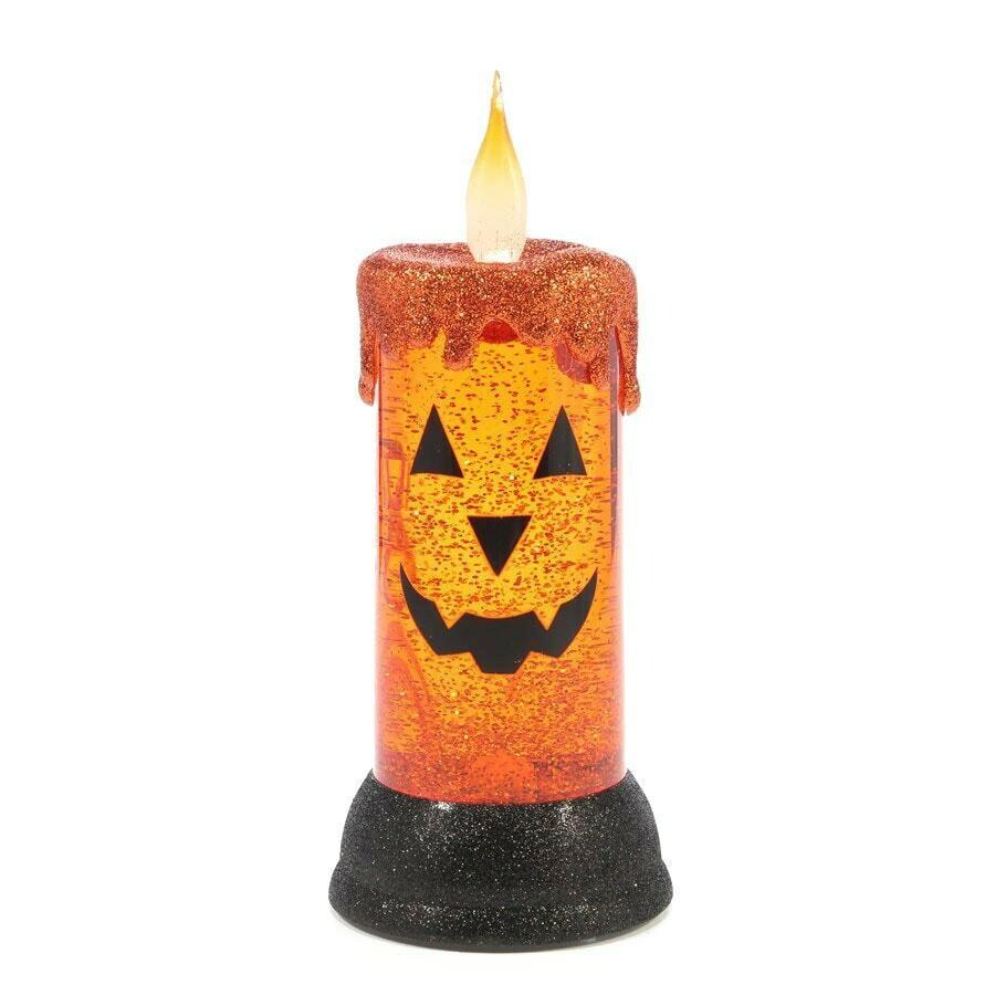 Light-Up Jack-o'-Lantern Swirling Candle Large