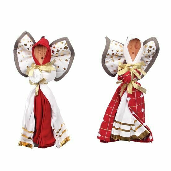Red Kitchen Angel Dish Towel & Spoon Set