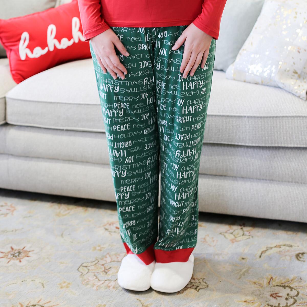 XL Adult Holiday Cheer PJ pants