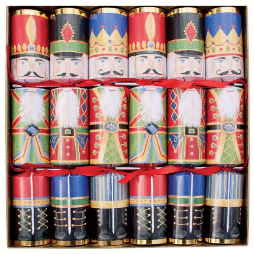 Caspari Set of 6 Nutcracker Christmas Crackers