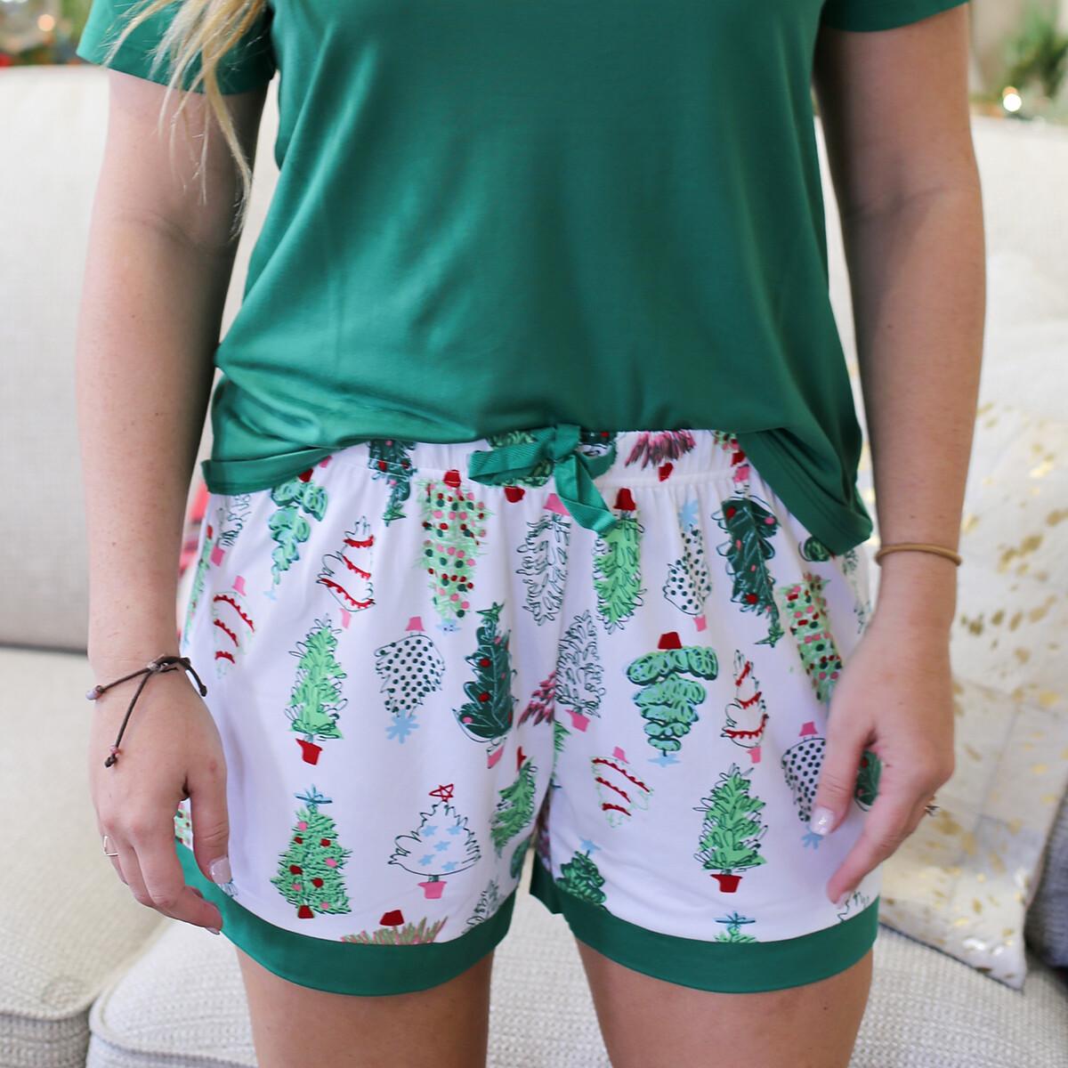 Medium Adult Treeful PJ shorts