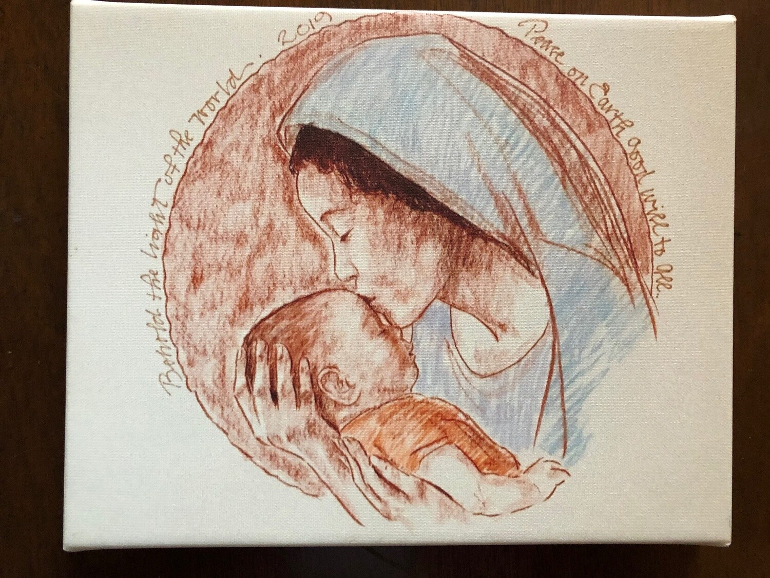 Tim Trapolin Christ Child's Head in Mary's Hand Cards (Pack of 10)
