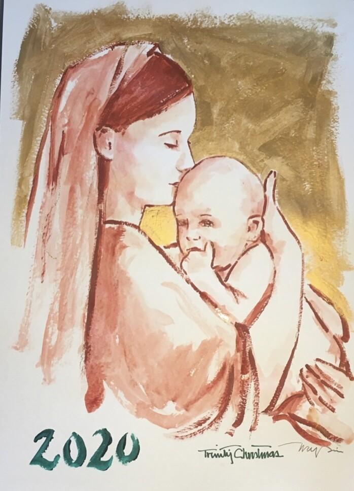 8x10 Tim Trapolin Trinity Christmas Madonna Canvas Print