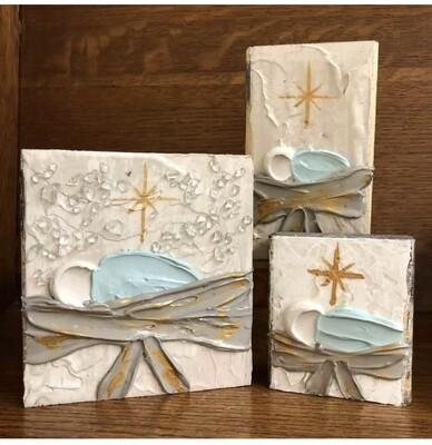 Susan Hood 6x6 Baby Jesus Art