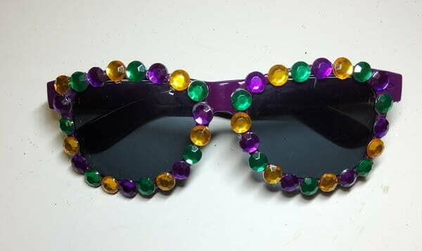 Purple Jeweled Mardi Gras Sunglasses
