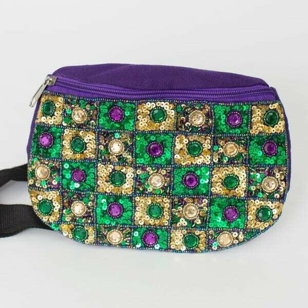 Jeweled Mardi Gras Fanny Pack