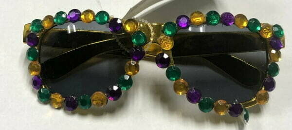 Gold Jeweled Mardi Gras Sunglasses