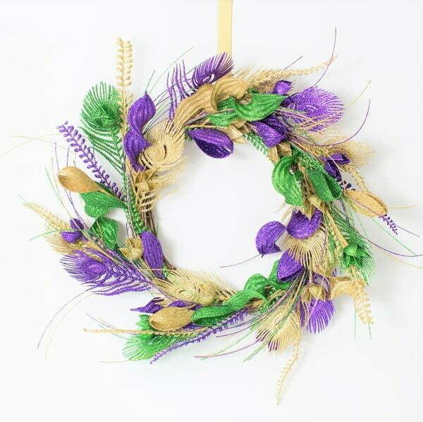 "20"" Mardi Gras Wreath"