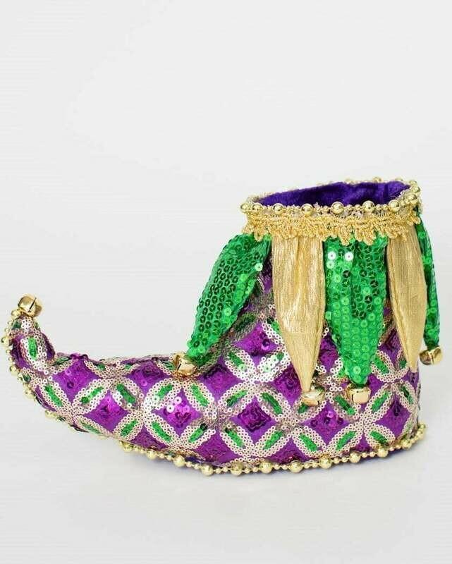Mardi Gras Jester Shoe Decoration