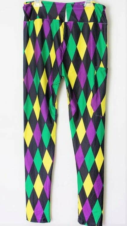 Harlequin Mardi Gras Leggings