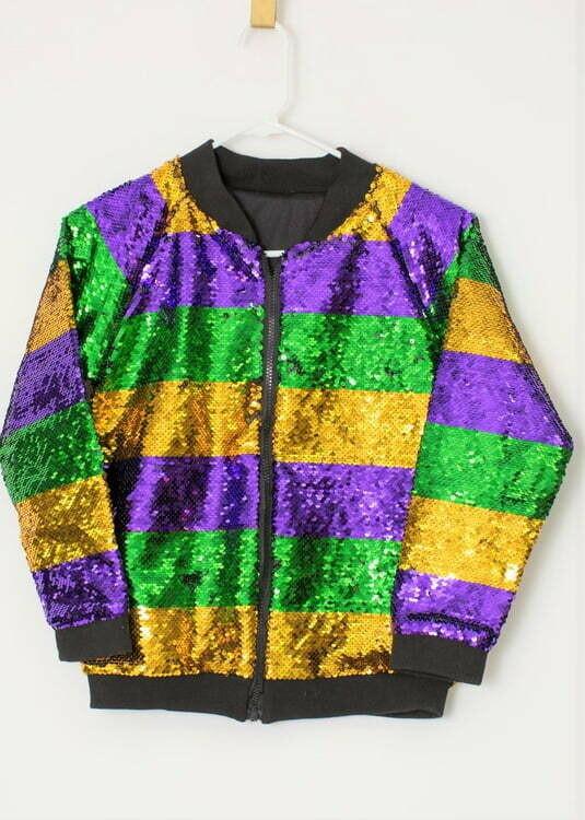 Purple, Green, and Gold Sequin Children's Jacket