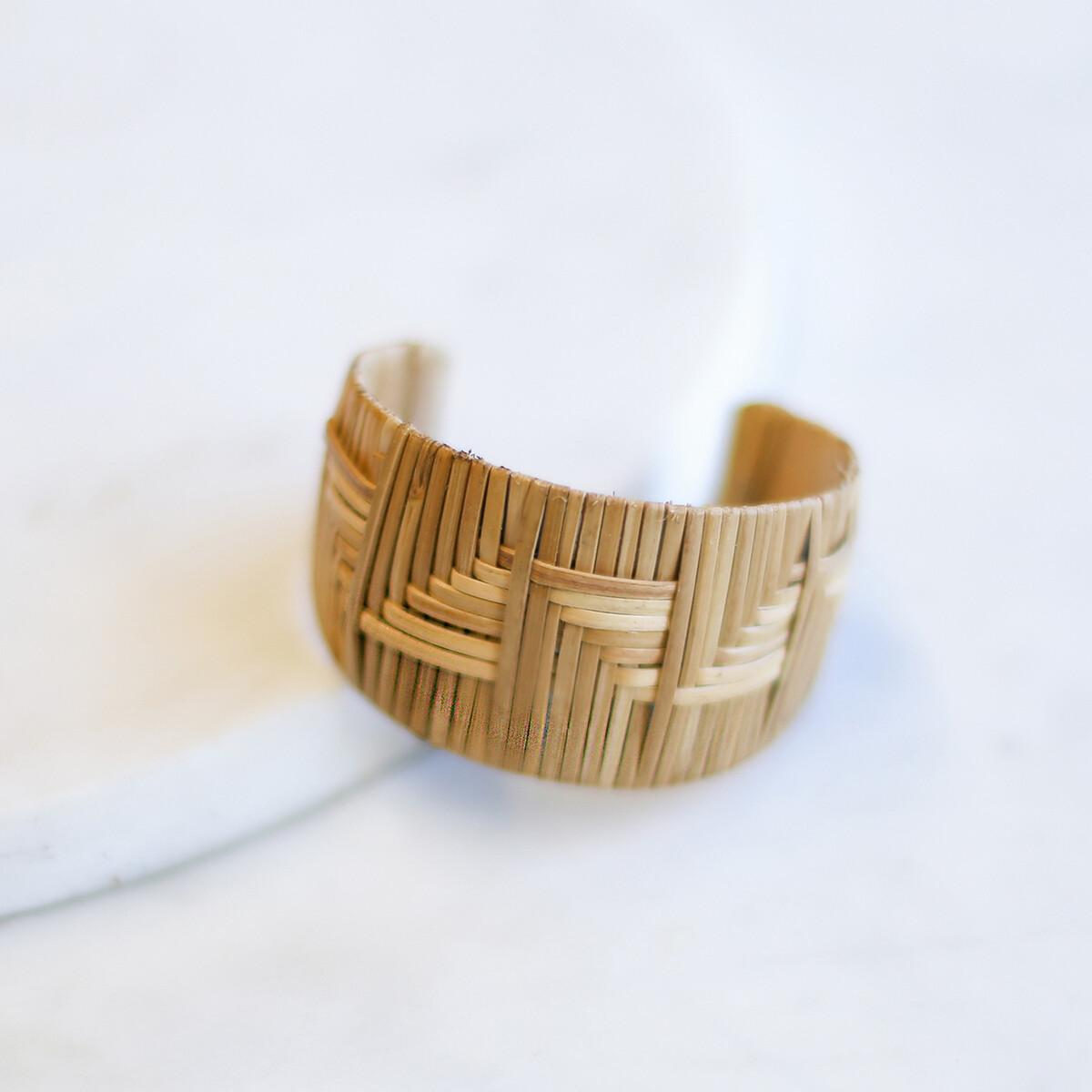 Fiji Rattan Cuff Bracelet