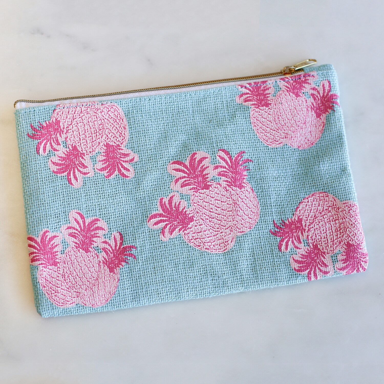 Pineapple Cosmetic Bag in Aruba Blue