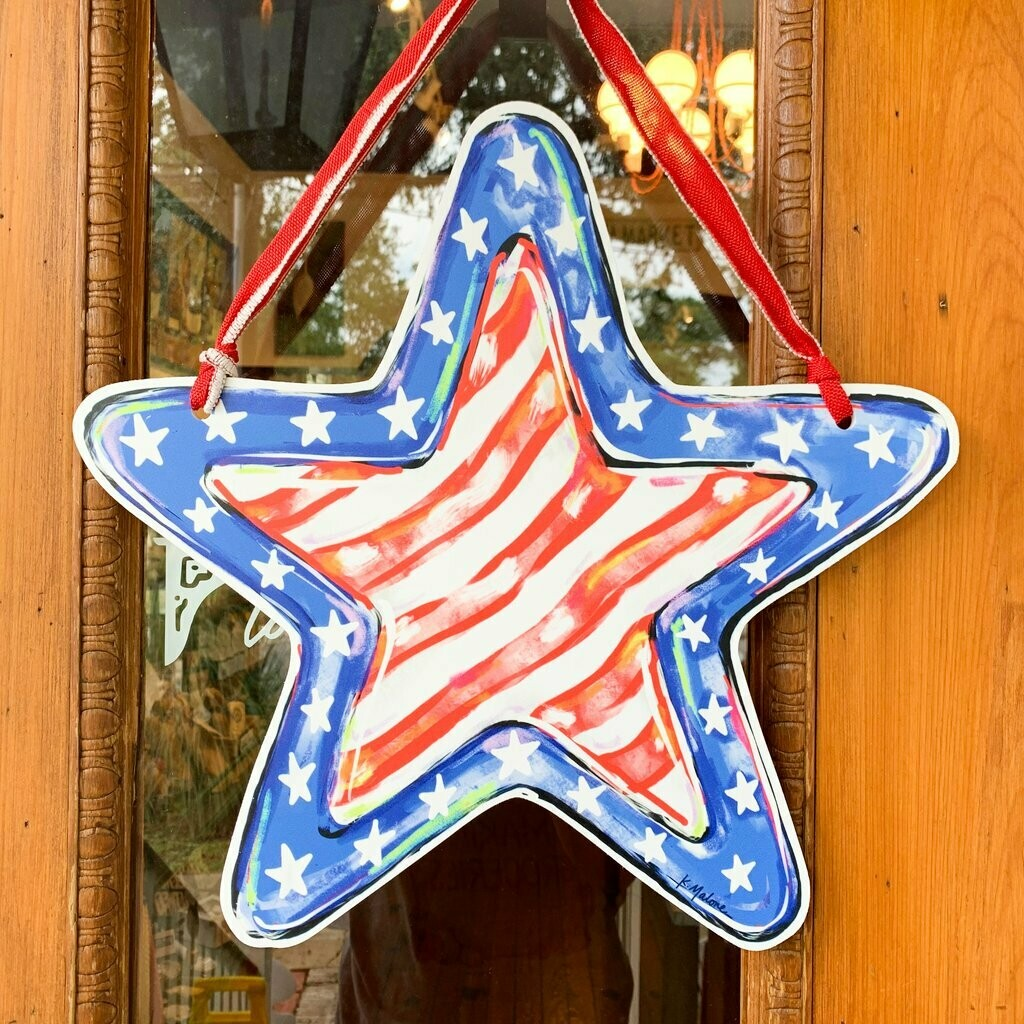 Home Malone Stars and Stripes Door Hanger