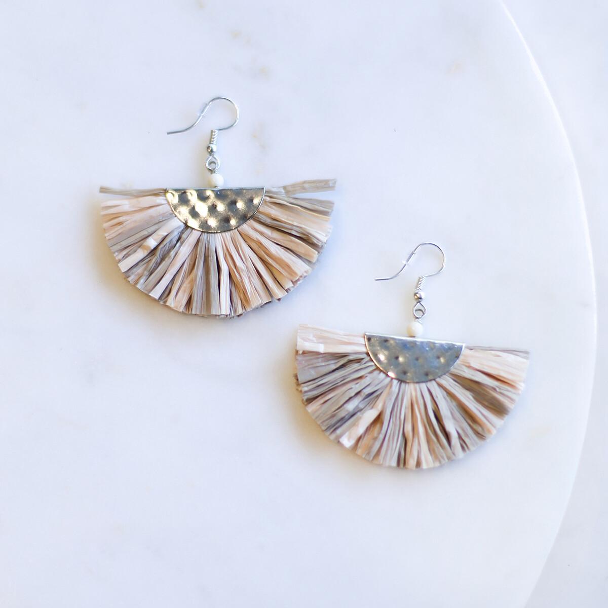 Andros Raffia Earrings in Multi