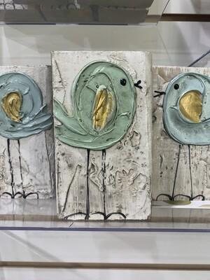 4x6 Susan Hood Little Blue Bird Art
