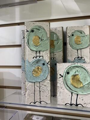 3x8 Susan Hood Stacked Birds